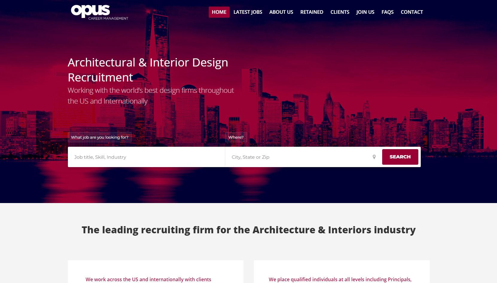 Opus Careers Architectural Interior Design Recruitment